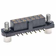 M80-4222605 - 13+13 Pos. Female DIL Vertical SMT Conn. Jackscrews