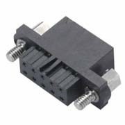 M80-4550698 - 3+3 Pos. Female DIL Cable Housing, Jackscrews
