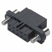 M80-4560498 - 2+2 Pos. Female DIL Cable Housing, Jackscrews