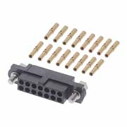 M80-4601405 - 7+7 Pos. Female DIL 22AWG Cable Conn. Kit, Jackscrews