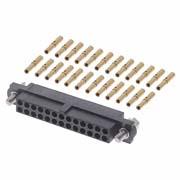 M80-4602605 - 13+13 Pos. Female DIL 22AWG Cable Conn. Kit, Jackscrews