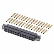M80-4603405 - 17+17 Pos. Female DIL 22AWG Cable Conn. Kit, Jackscrews