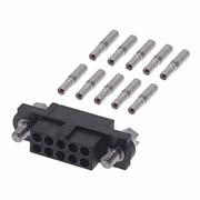 M80-4611042 - 5+5 Pos. Female DIL 24-28AWG Cable Conn. Kit, Jackscrews