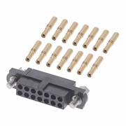 M80-4611405 - 7+7 Pos. Female DIL 24-28AWG Cable Conn. Kit, Jackscrews