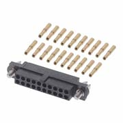 M80-4612005 - 10+10 Pos. Female DIL 24-28AWG Cable Conn. Kit, Jackscrews