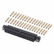 M80-4613405 - 17+17 Pos. Female DIL 24-28AWG Cable Conn. Kit, Jackscrews