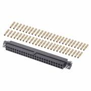 M80-4615005 - 25+25 Pos. Female DIL 24-28AWG Cable Conn. Kit, Jackscrews