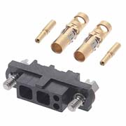 M80-4C10205F1-02-325-00-000 - 2+2 Pos. Female 24-28AWG+12AWG Cable Conn. Kit, Jackscrews