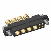 M80-4C10405F1-04-326-00-000 - 4+4 Pos. Female 24-28AWG+14AWG Cable Conn. Kit, Jackscrews