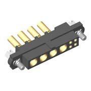 M80-4C10405F1-04-329-00-000 - 4+4 Pos. Female 24-28AWG+20AWG Cable Conn. Kit, Jackscrews