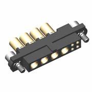 M80-4C10405F2-04-325-00-000 - 4+4 Pos. Female 24-28AWG+12AWG Cable Conn. Kit, Jackscrews