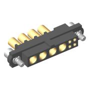 M80-4C10405F2-04-327-00-000 - 4+4 Pos. Female 24-28AWG+16AWG Cable Conn. Kit, Jackscrews