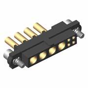 M80-4C10405F2-04-328-00-000 - 4+4 Pos. Female 24-28AWG+18AWG Cable Conn. Kit, Jackscrews