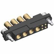 M80-4C10405FB-04-326-00-000 - 4+4 Pos. Female 24-28AWG+14AWG Cable Conn. Kit, Jackscrews