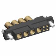 M80-4D10405F1-04-325-00-000 - 4+4 Pos. Female 22AWG+12AWG Cable Conn. Kit, Jackscrews