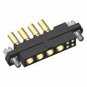 M80-4D10405F1-04-328-00-000 - 4+4 Pos. Female 22AWG+18AWG Cable Conn. Kit, Jackscrews