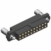 M80-4D10405FR - 2+2 Pos. Female DIL 22AWG Cable Conn. Kit, 101Lok