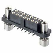 M80-4S11642F8 - 8+8 Pos. Female DIL Vertical SMT Conn. Reverse Fix