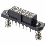 M80-4T11605FD - 8+8 Pos. Female DIL Vertical Throughboard Conn. 101Lok