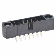 M80-5001605 - 8+8 Pos. Male DIL Vertical Throughboard Conn. Jackscrews