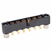 M80-5000000M2-06-331-00-000 - 6 Pos. Male SIL Vertical Throughboard Conn. Jackscrews