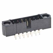 M80-5001442 - 7+7 Pos. Male DIL Vertical Throughboard Conn. Jackscrews