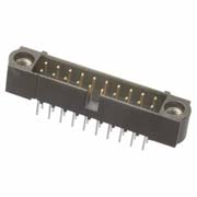 M80-5002042 - 10+10 Pos. Male DIL Vertical Throughboard Conn. Jackscrews