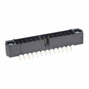 M80-5002642 - 13+13 Pos. Male DIL Vertical Throughboard Conn. Jackscrews