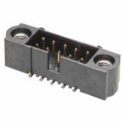 M80-5020442 - 2+2 Pos. Male DIL Vertical SMT Conn. Jackscrews