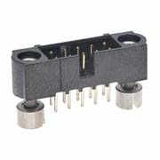 M80-5101042 - 5+5 Pos. Male DIL Vertical Throughboard Conn. Jackscrews