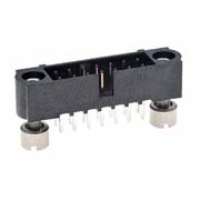 M80-5101442 - 7+7 Pos. Male DIL Vertical Throughboard Conn. Jackscrews