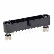 M80-5102042 - 10+10 Pos. Male DIL Vertical Throughboard Conn. Jackscrews