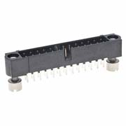 M80-5102642 - 13+13 Pos. Male DIL Vertical Throughboard Conn. Jackscrews