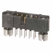 M80-5110642 - 3+3 Pos. Male DIL Vertical Throughboard Conn. Jackscrews