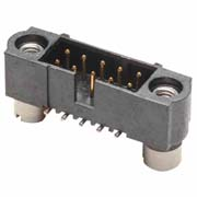 M80-5121242 - 6+6 Pos. Male DIL Vertical SMT Conn. Jackscrews