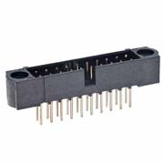 M80-5212642 - 13+13 Pos. Male DIL Vertical Throughboard Conn. No Jackscrews