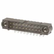 M80-5300442 - 2+2 Pos. Male DIL Horizontal Throughboard Conn. Jackscrews