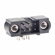 M80-5300642 - 3+3 Pos. Male DIL Horizontal Throughboard Conn. Jackscrews