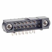 M80-5301442 - 7+7 Pos. Male DIL Horizontal Throughboard Conn. Jackscrews