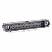 M80-5302642 - 13+13 Pos. Male DIL Horizontal Throughboard Conn. Jackscrews