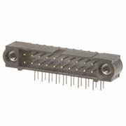 M80-5311642 - 8+8 Pos. Male DIL Horizontal Throughboard Conn. Jackscrews