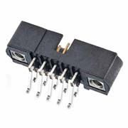 M80-5320442 - 2+2 Pos. Male DIL Horizontal SMT Conn. Jackscrews