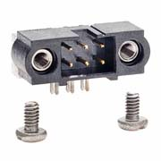 M80-5400642 - 3+3 Pos. Male DIL Horizontal Throughboard Conn. Jackscrews