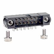 M80-5401442 - 7+7 Pos. Male DIL Horizontal Throughboard Conn. Jackscrews