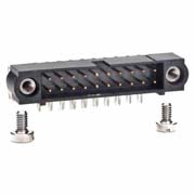 M80-5402042 - 10+10 Pos. Male DIL Horizontal Throughboard Conn. Jackscrews