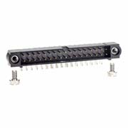 M80-5403442 - 17+17 Pos. Male DIL Horizontal Throughboard Conn. Jackscrews
