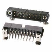 M80-5420442 - 2+2 Pos. Male DIL Horizontal SMT Conn. Jackscrews
