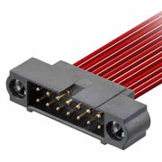 M80-5D10605MC - 3+3 Pos. Male DIL 22AWG Cable Conn. Kit, 101Lok