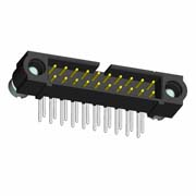 M80-5L10405MA - 2+2 Pos. Male DIL Horizontal Throughboard Conn. Reverse Fix