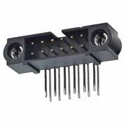 M80-5L20405MC - 2+2 Pos. Male DIL Horizontal Throughboard Conn. 101Lok